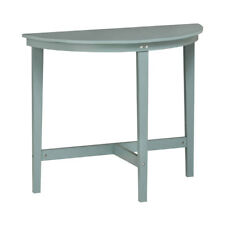 Premier Half Moon Grey Wood Side End Coffee Table, Hallway Antique Detailing