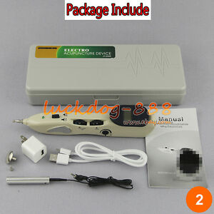Newly electro-acupuncture device acupuncture & moxibustion pen massage pointer