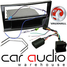 Vauxhall Corsa D 2009-14 Car Stereo Piano Black Fascia & Steering Interface Kit