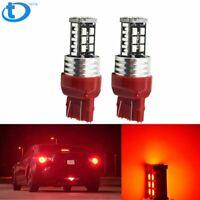 Red 7443 7440 Strobe LED Flashing Blinking Brake Light Tail Stop Parking Bulb