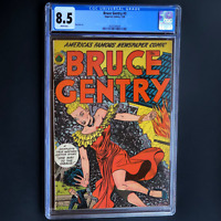BRUCE GENTRY #3 (1948) 💥 CGC 8.5 WHITE PGs 💥 ONLY 4 HIGHER! Superior Comics