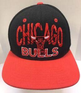 adidas Chicago Bulls Baseball Cap StrapBack Hat Windy City Logo Men OSFA