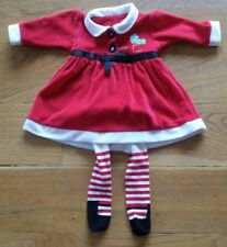 Cute Baby Girl Christmas Outfit 3-6 Months GEORGE lovely condition matching set