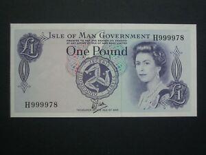 ** 'H999978'**£1 'UNC/AUNC' Isle-of-Man Banknote***