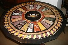 3'x3' Black Marble Table Top Coffee Dining Inlay Lapis Mosaic Home Decor G612