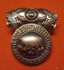 Harley Willie G Skull Vtwin Engine Pin 4 Your Jacket Hat Cap Vintage Vest