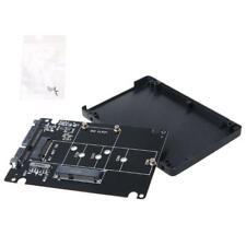 """MSATA/M.2 NGFF to SATA3 Adapter Card Enclosure Box for 2.5"""" SSD PC Computer"""