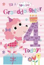 In una speciale nipote 4th 4 oggi Cane & Cake Design Happy Birthday Card