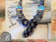 Natural Semi-Precious Stone Artisan Crafted Bib Statement Necklace