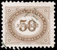 Austria 1894 50kr BROWN POSTAGE DUE PERF 11 USED #J9 var