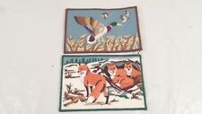 """2 6x4"""" Embroidered Fox & Duck Clothes Clothing Patches"""
