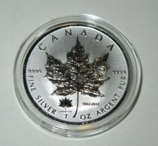 2017 Silver Maple Leaf 1 oz Canada 150th Anniversary Privy .999 w/ Airtite Capsl