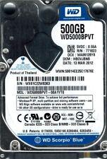 Western Digital WD5000BPVT-00A1YT0 500GB DCM: HB0VJBNB