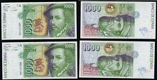 Pareja de 1000 Pesetas 1992 serie 9A nº 1421397-1421398 Hernán Cortés. PLANCHA.