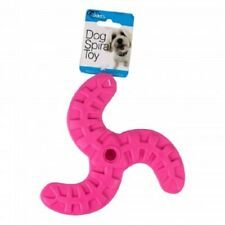 Dog Spiral Toy - PINK - Boomerang - Fetch, tug, play, puppy, chew, rubber, bone