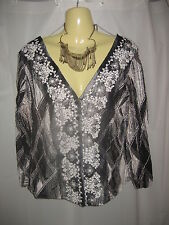 VSSP NZ Designer Beautiful Stretchy Embroidered Top/Jacket Size 12-14