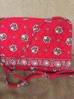 Vera Bradley Purse Handbag Red Bandana  Pattern EUC