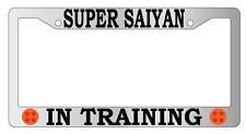 Chrome License Plate Frame Super Saiyan In Training Auto Accessory Dragon Ball Z