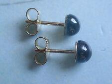 Safir Ohrstecker blau 5,5 mm Gold 333,Ohrstecker Gold 333 blauen Safir 5,5 mm