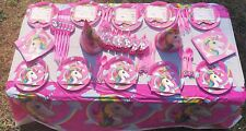 113 Pics unicorn Party Supplies Pack boy kids Birthday Marvel 10 guest