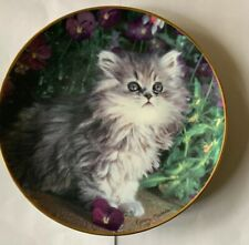Porcelain Franklin Mint Purrfection! Cat / Kitten Numbered Plate.