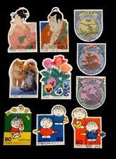 Used Rare Art Japanese 10 Postage Stamps, Phila Nippon 2001 complete #80