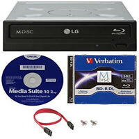 LG WH16NS40K 16X Blu-ray BDXL M-DISC DVD CD Writer Free 50G M DISC + S/W + Cable