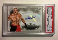 💥Brock Lesnar 2015 Topps WWE Undisputed Autograph Card PSA 8 NMMT UFC MMA Auto