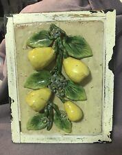 3d Pears Plaque Rustic