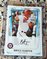 BRYCE HARPER 2011 Bowman #1 Draft Pick Rookie Card RC Philadelphia Phillies $$$