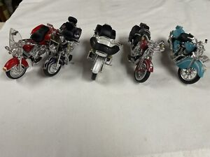 Maisto Lot Of 5 HD Harley & Indian Diecast Motorcycles 1:18 DAMAGE