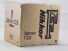 Empty Box for Nikon 24mm f2.8 Nikkor F lens vintage