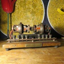 Vintage MOTOR (10V) DYNAMO (6V) scale model car engine driving educational model
