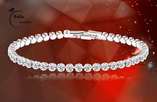 Crystal Rhinestone gold Sliver Bracelet Bangle Cuff Charm Women Jewelly UK Gift