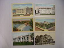 6 VINTAGE POSTCARDS ASSORTED VIEWS AROUND COLUMBUS OHIO USED & UNUSED