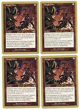 * * 4x Tangle Wire x4 * * Nemesis World Champs Gold Bordered MTG VLP
