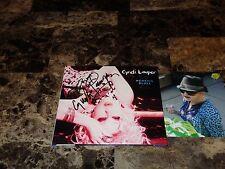 Cyndi Lauper Rare Authentic Hand Signed Memphis Blues CD + Bonus Candid Photo