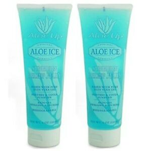 Aloe Up Ice After Sun Gel Sunburn Relief Jelly Large 118ml Tube (twin Pack!)