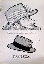 1958 ADV Pubblicità PANIZZA il cappello per l'uomo moderno - design Elpi 2
