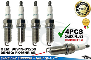 4PCS 90919-01259 Iridium Spark Plug FIT Camry Avalon RAV4 ES300H NEW🔥