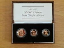 More details for 1983 proof gold sovereign 3 coin set