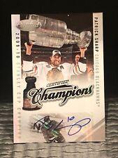 #38/50 Patrick Sharp 2010-11 Certified Auto Cup Champions Blackhawks Autograph Q