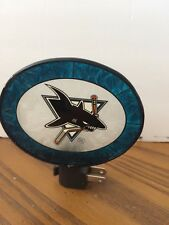 San Jose Sharks Plug In Glass Night Light Made By The Memory Co New