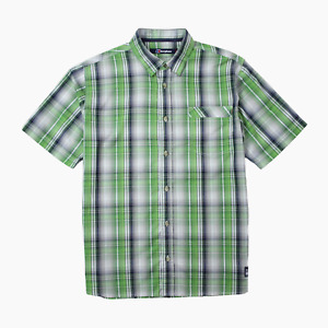 Berghaus Mens Short Sleeve Green Check Outdoor Shirt L Large Hiking Walking