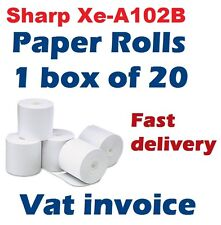 Sharp XE-A102 / XEA102 Cash Register Paper Rolls Box of 20