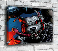 Crazy Dog-Pop Art-Canvas