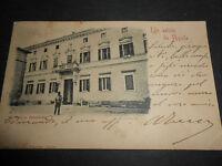 1910 CARTOLINA UN SALUTO DA L'AQUILA PALAZZO PERSICHETTI VIAGGIATA