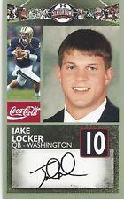 JAKE LOCKER WASHINGTON HUSKIES  2011 SENIOR BOWL CARD