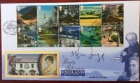 7.2.2006 England, A British Journey FDC Signed by MELVYN BRAGG, South Bank Show