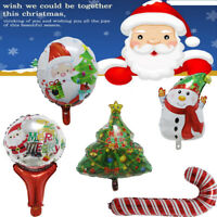 1PC Merry Christmas Foil Balloons Santa Claus Kids Bells Xmas Tree Party Decor